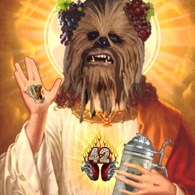 Cult of the Sacred Drunken Wookiee Sticker
