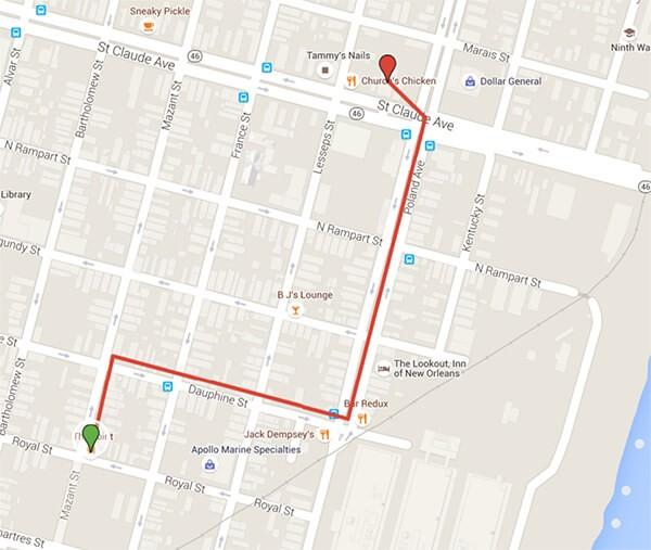 Shoeboxus Route Map